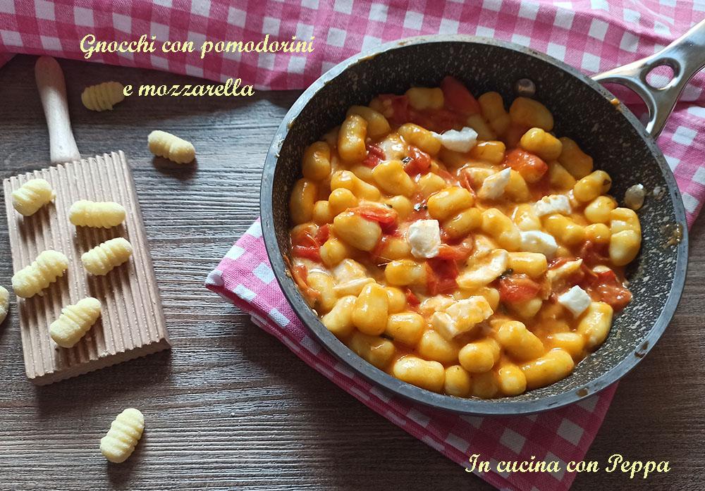 gnocchi con pomodorini e mozzarella