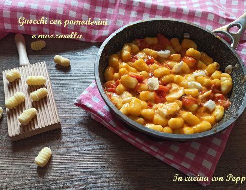 Gnocchi con pomodorini e mozzarella – saporito