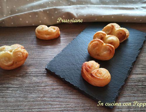 Prussiane o ventagli di sfoglia dolci