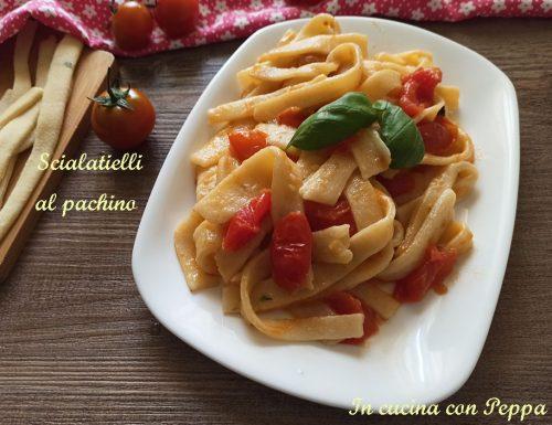 Scialatielli con pomodorini Pachino, primo gustoso