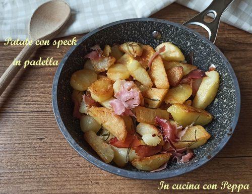 Patate con speck in padella, croccanti e saporite
