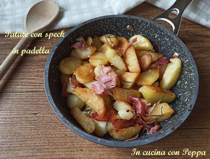 patate con speck in padella