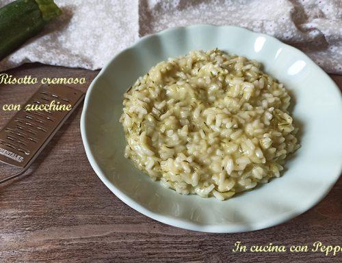 Risotto cremoso con zucchine, pronto in 30 minuti