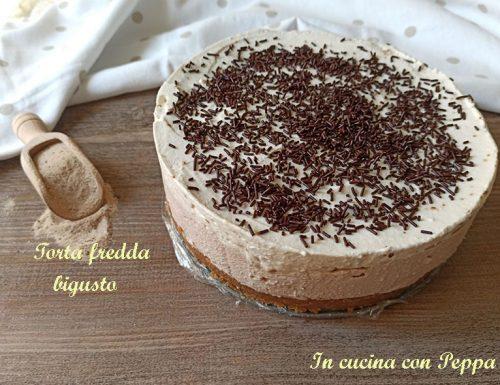 Torta fredda nutella e cappuccino, due strati golosi