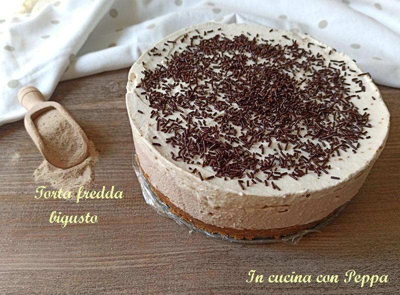 torta fredda nutella e cappuccino