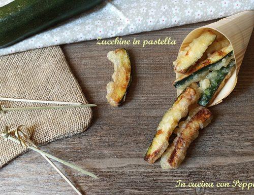 Zucchine in pastella sfiziose e veloci