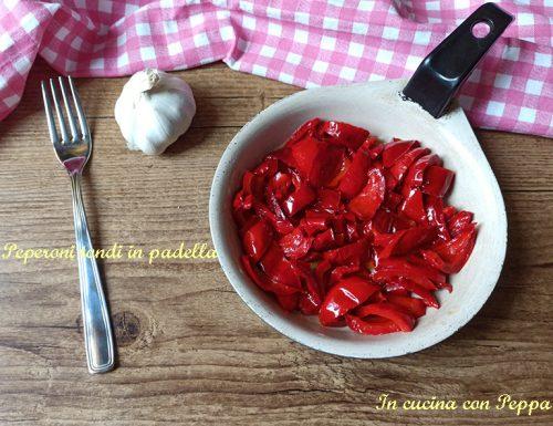 Peperoni tondi in padella, contorno veloce e gustoso