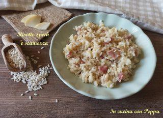risotto con speck e scamorza