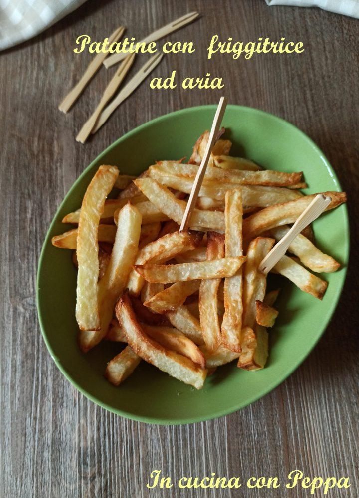 patatine con friggitrice ad aria