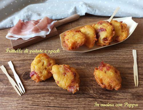 Frittelle di patate e speck, antipasto sfizioso