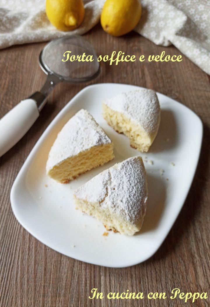 torta soffice con cottura al microonde