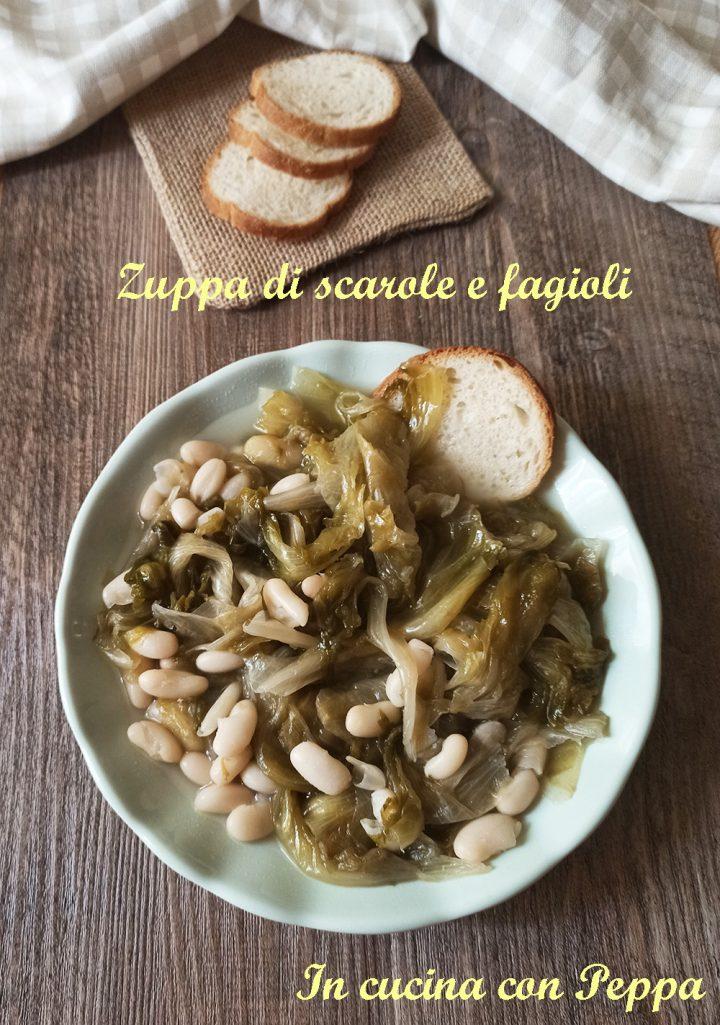 zuppa scarole e fagioli con cookeo