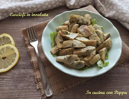 Carciofi in insalata, contorno leggero e gustoso