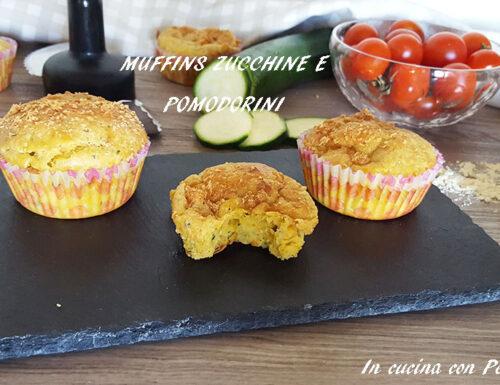 Muffins zucchine e pomodorini con Companion xl