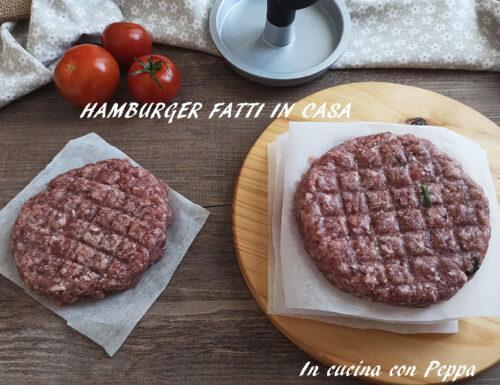 Hamburger fatti in casa semplici e veloci