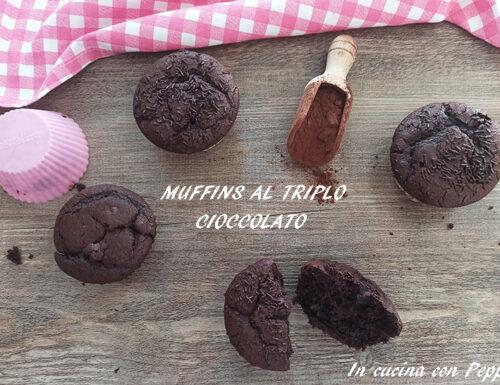 MUFFINS AL TRIPLO CIOCCOLATO