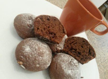 Muffin cacao e ricotta con cuore di nutella