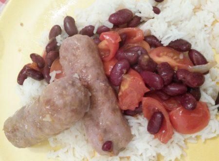 Salsiccia e fagioli con riso basmati