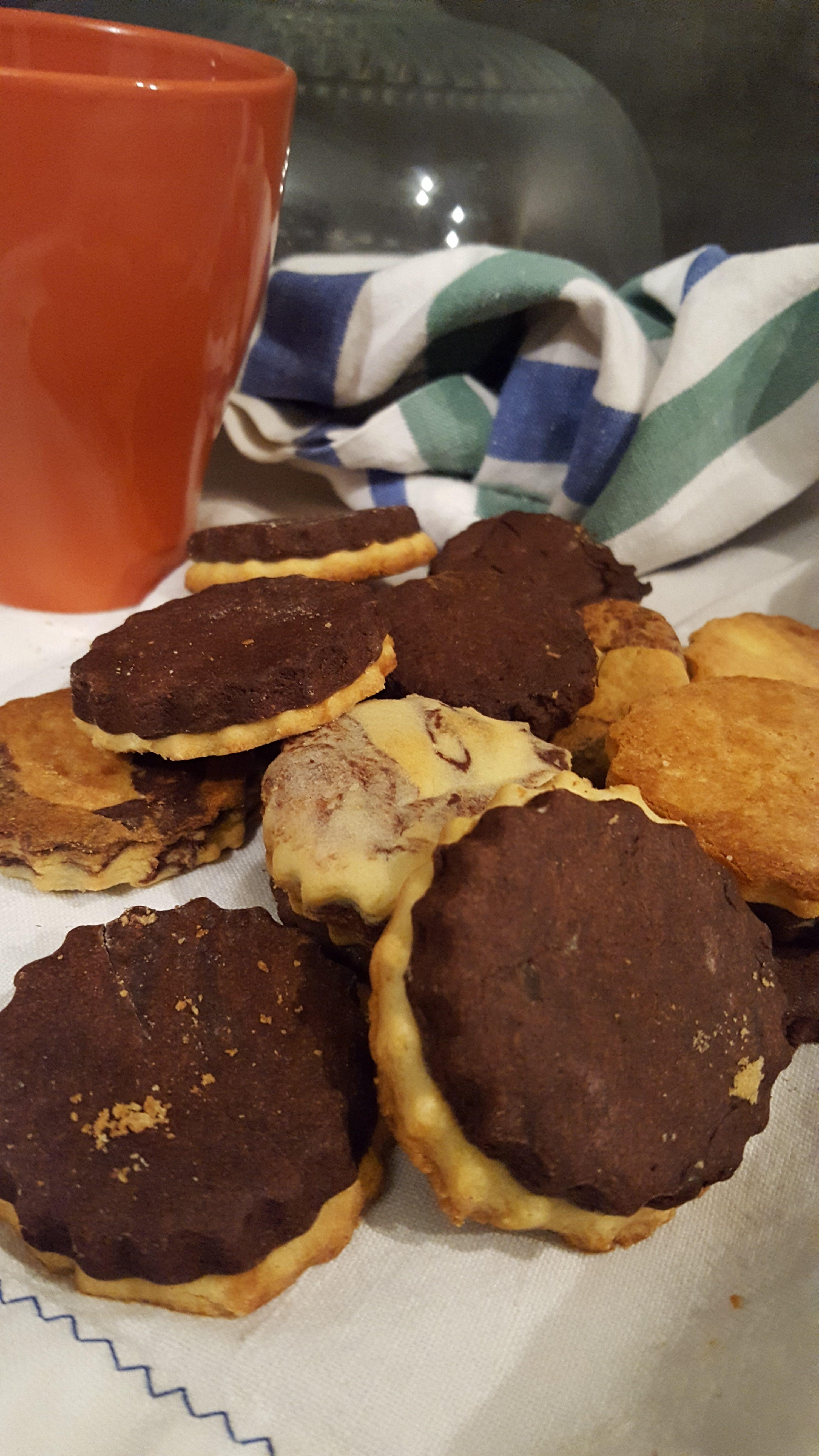 Biscotti bicolor