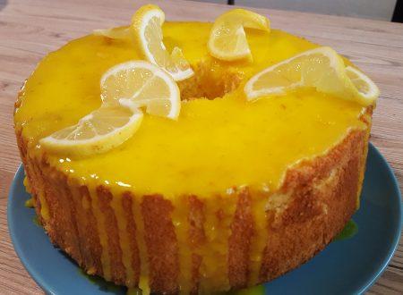Chiffon cake al limone glassata