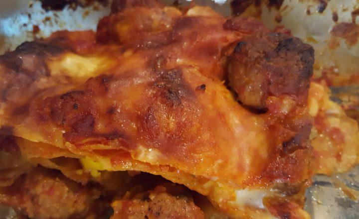 Lasagne con polpette e uova
