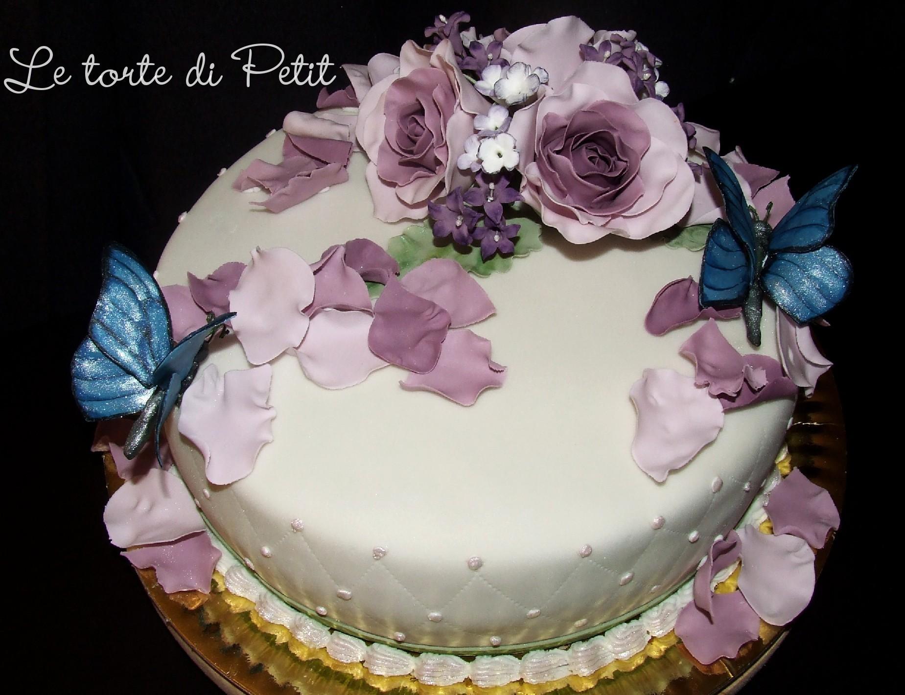 Le Torte Di Petit Rose E Farfalle Per Un Compleanno Torte