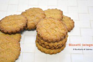 Biscotti integrali ricetta senza latticini