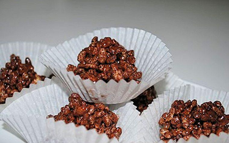 Pasticcini al riso soffiato e cioccolato, ricetta semplice