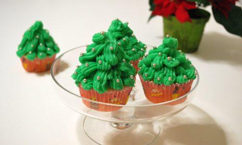 Cupcakes albero di Natale, ricetta natalizia