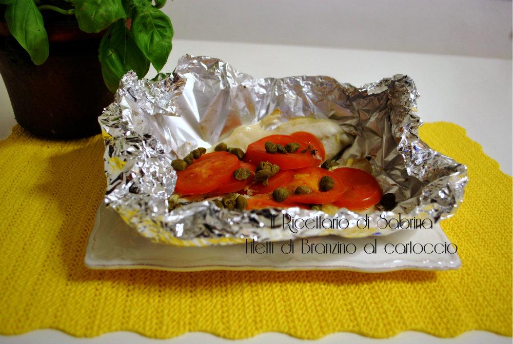 Filetti di branzino al cartoccio il ricettario di sabrina for Cucinare branzino