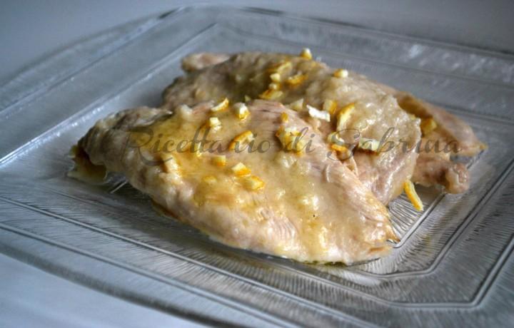Pollo glassato al limone