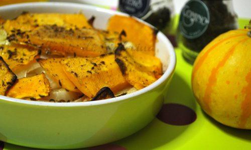 Zucca al forno con cipolle