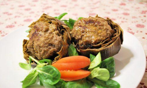 Carciofi ripieni di carne