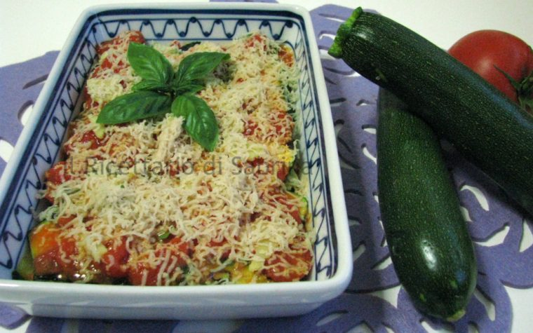 Parmigiana di zucchine vegan senza lattosio