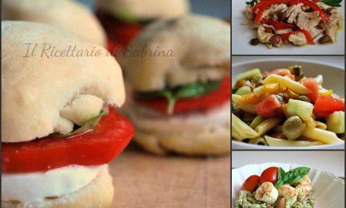 Raccolta di piatti freddi e insalatone
