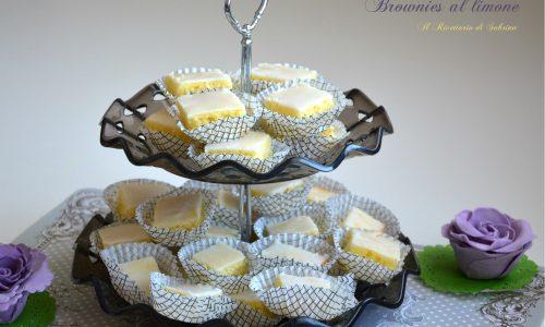 Brownies al limone ricetta tradizionale