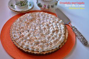 Crostata meringata con crema aromatizzata al limone