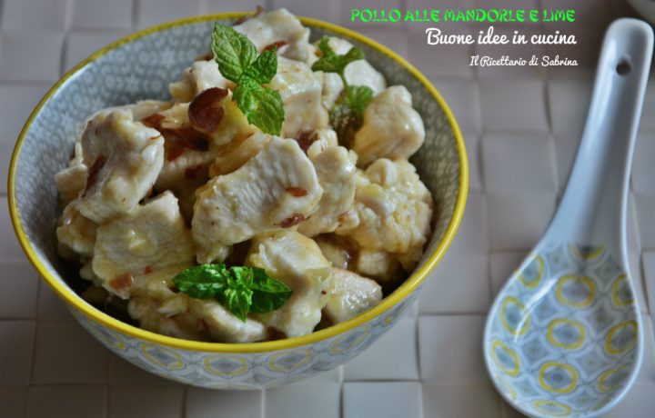 Pollo alle mandorle e lime