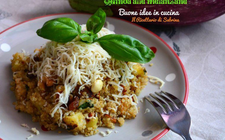 Insalata di Quinoa alle melanzane e frutta secca