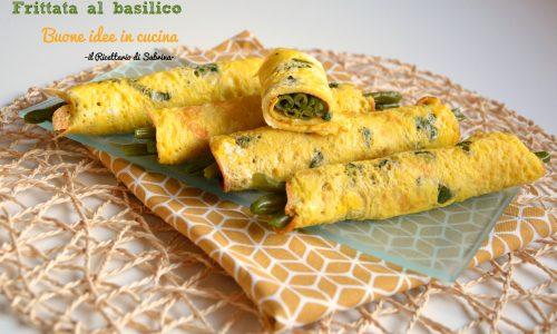 Frittata al basilico e fagiolini