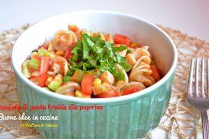 Insalata di pasta fredda alla paprica e aceto balsamico
