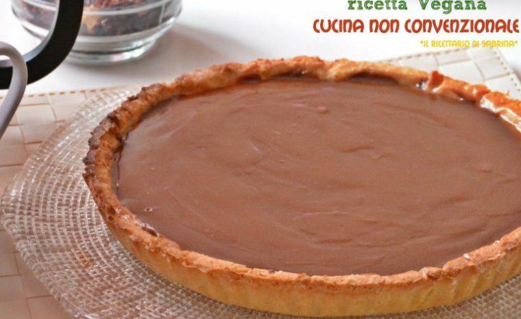 Crostata al caramello salato e cioccolato ricetta Vegan