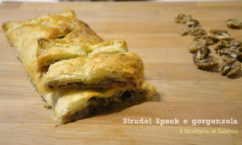 Strudel speck e gorgonzola