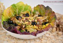 Cavolo rosso con olive e pistacchi