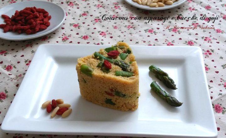 Couscous con asparagi e bacche di goji