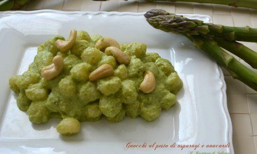 Gnocchetti al pesto di asparagi e anacardi