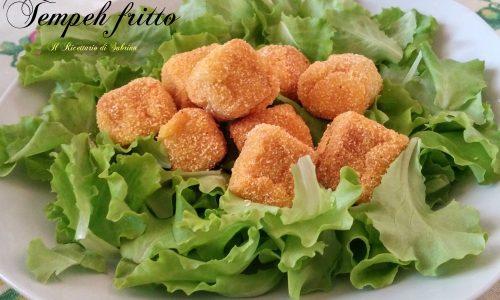 Tempeh fritto in tempura con marinatura