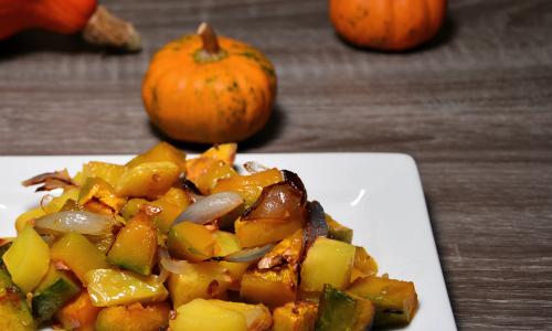 Zucca al forno con patate