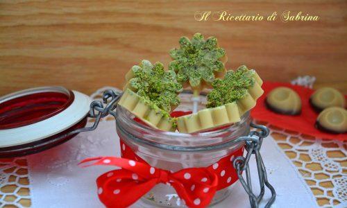 Lecca lecca al cioccolato bianco e pistacchi