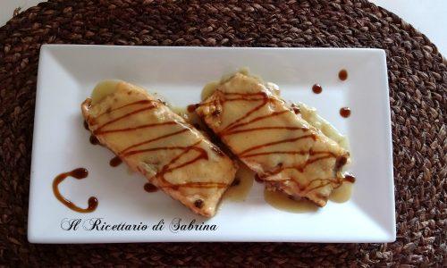 Filetti di salmone con aceto balsamico